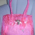 handbagbargains: Trendy Pink Jelly Plastic Purse Swirl Pattern