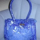 handbagbargains: Blue Jelly Plastic Purse with Swirl Print
