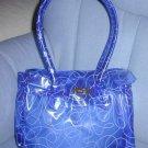 handbagbargains: Blue Jelly Plastic Purse with Swirl Print