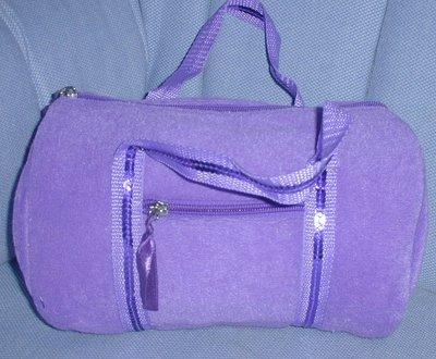 handbagbargains: Purple Terry Cloth Barrel Handbag Purse