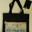 handbagbargains: Black Nylon Tote Diaper Bag Baby Print