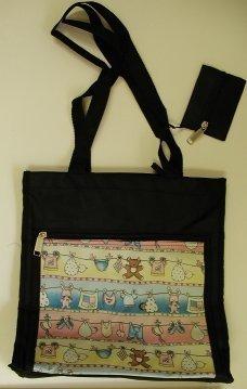 handbagbargains: Black Nylon Tote Diaper Bag Baby Print