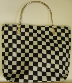 handbagbargains: Black and White Checkerboard Handbag Purse