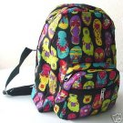 handbagbargains: Black Nylon Flip Flop Print Backpack
