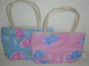 handbagbargains: Set of 4 Pastel Roses Flower Handbag Purse Tote