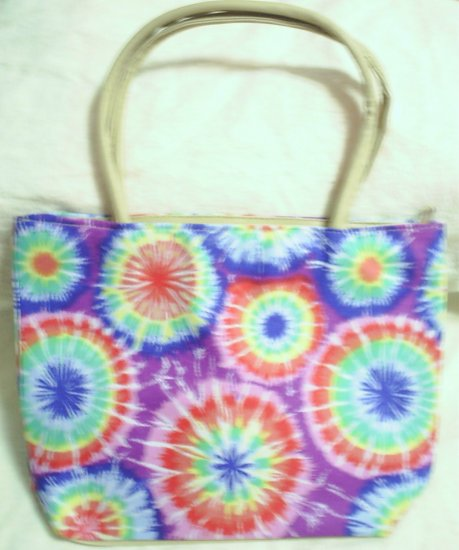handbagbargains: Purple and Red Tye Dye Handbag Purse Tote Mini