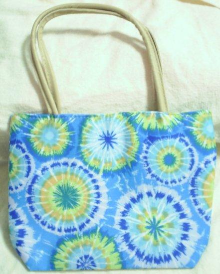 handbagbargains: Blue Tye Dye Handbag Purse Tote Mini