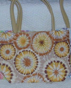 handbagbargains: Tan and Brown Tye Dye Handbag Purse Tote Mini