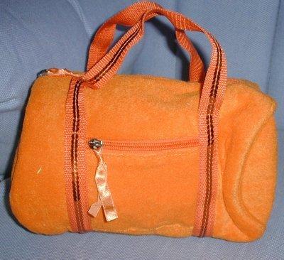 handbagbargains: Orange Terry Cloth Barrel Handbag Purse