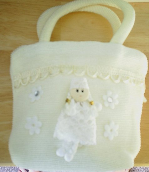 handbagbargains: White Princess Knit Purse