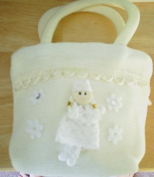 handbagbargains: White Princess Knit Purse