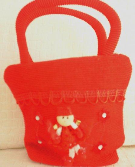 handbagbargains: Red Princess Knit Purse