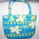 handbagbargains:  Blue Flowered Mini Purse