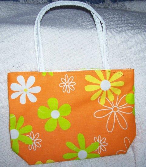 handbagbargains: Orange Flowered Purse Retro Look