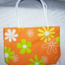 handbagbargains: Orange Flowered Purse Retro Look