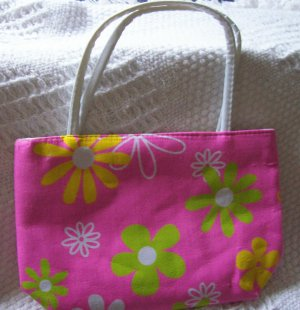 handbagbargains: Pink Flowered Purse Retro Look