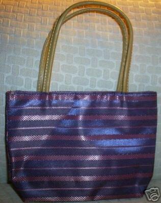 handbagbargains: Purple Striped Purse