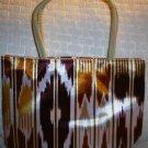 handbagbargains: Brown Funky Striped Purse