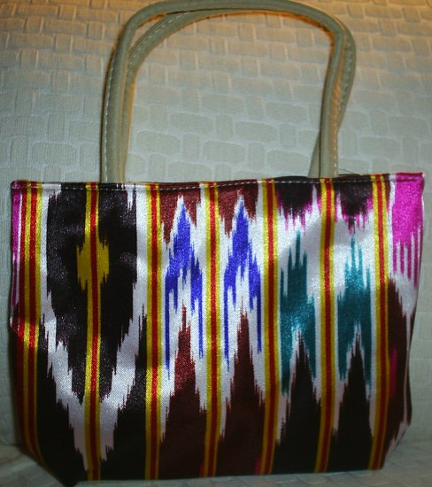 handbagbargains: Funky Multicolored Striped Purse