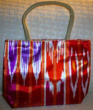 handbagbargains: Red Funky Striped Purse
