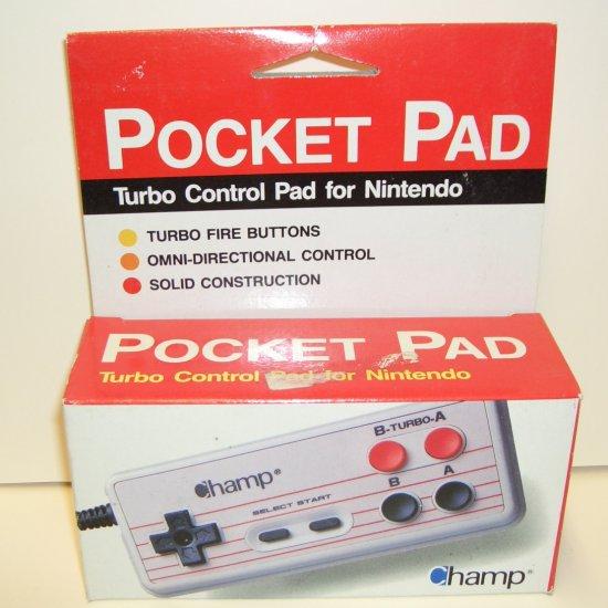 Pocket Pad Turbo Control Pad for Nintendo Nes New in Box!
