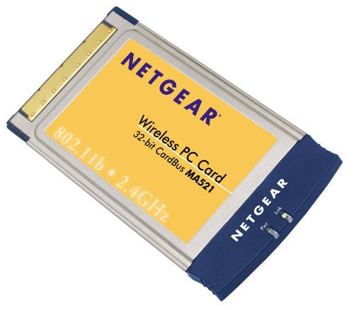 Netgear MA521 802.11b Wireless PC Card New In Box