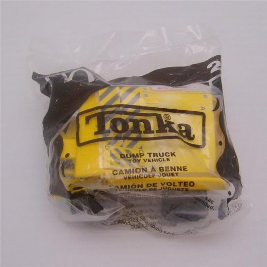 Tonka Yellow Dump Truck. #2 in series. 2003 McDonalds Happy Meal Toy New in Sealed Package.