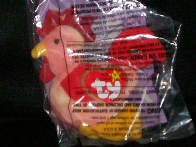 TY TEENIE BEANIE BABIES STRUT the ROOSTER McDonald's (1999) #7