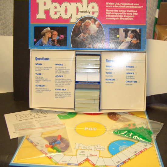 PEOPLE WEEKLY TRIVIA BOARD GAME ~ BY PARKER BROTHERS, 1984