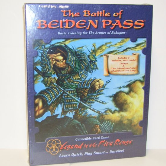 The Battle of Beiden Pass Basic Training for the Armies of Rokugan L5R Collectible Card Game