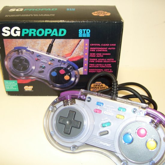 SG Propad Clear Controller SV-434 for SEGA Genesis Sega 16 Bit Mega Drive