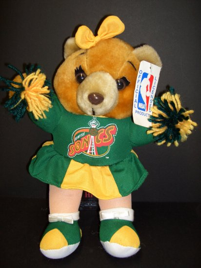 Seattle Sonics Cheerleader bear ~ NBA Official Licensed Product