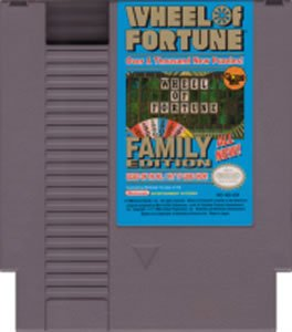 Wheel of Fortune Family Edition	~ Original 8-bit Nintendo NES Game Cartridge
