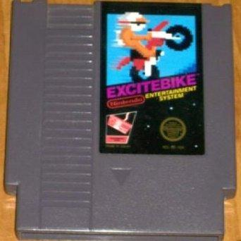 Excitebike ~ Original 8-bit Nintendo Nes Game Cartridge