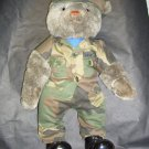 Applause Berrie & Co. Grey Bear 19in, moveable Arms and Legs in U.S. Air Force Uniform