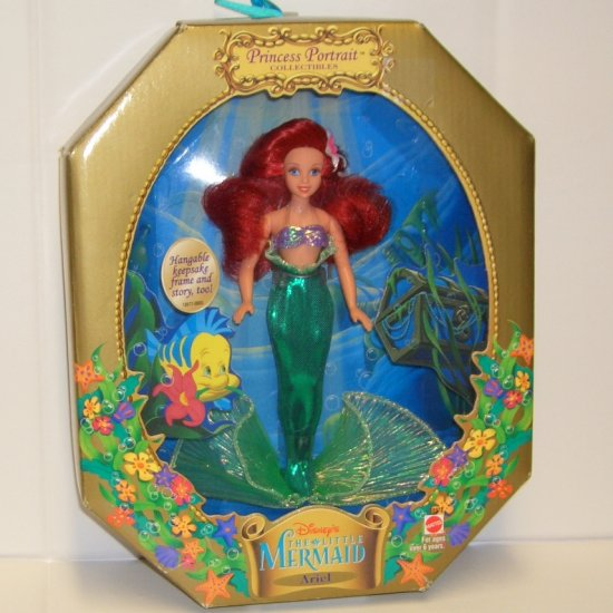 The Little Mermaid Ariel Doll by Mattel Princess Portrait Collectibles (1997) Hard-To-Find