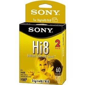 SONY MEDIA - Digital Hi8 Video Cassette (120 Min, 2 Pk) - P6120HMP/2BWK