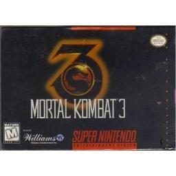 Mortal Kombat 3 Super Nintendo Game