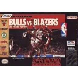Bulls vs Blazers and the NBA playoffs Super Nintendo Game