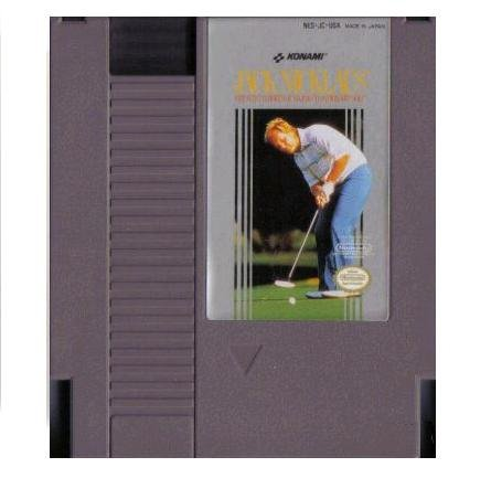 JACK NICKLAUS GREATEST 18 HOLES OF MAJOR CHAMPIONSHIP GOLF ~ Original 8-bit  NES Game Cartridge