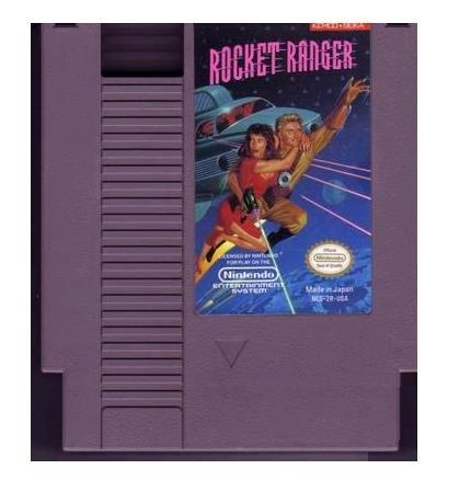 Rocket Ranger Original 8-bit Nintendo NES Game Cartridge with instructions