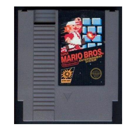 SUPER MARIO BROS. Original 8-bit Nintendo NES Game Cartridge with instructions