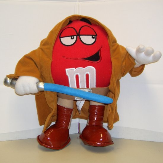"RED M&M'S Star Wars Chocolate Mpire Plush 12"" OBI-WAN KENOBI Doll Toy bellarain.ecrater.com"