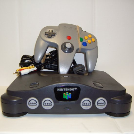 N64 Game System Console Complete with Controller, Cables and 1 game
