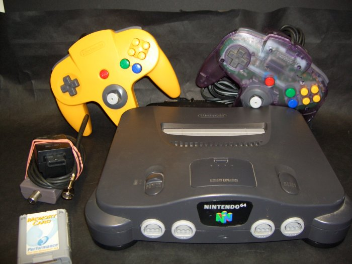 Nintendo 64 N64 Game System Console Complete with 2 Controllers Plus
