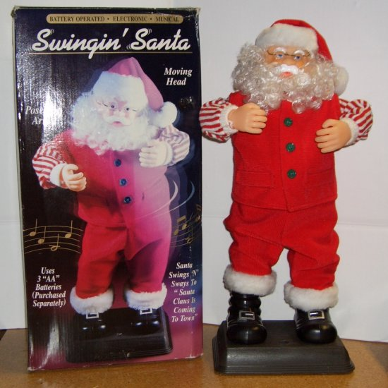 Swingin' Santa ~ Battery Operated  Electronic Musical