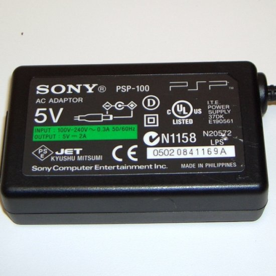 SONY PSP-100 5v AC ADAPTER FOR PLAYSTATION PORTABLE PSP