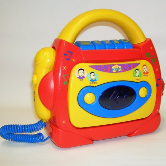 The WIGGLES Sing-A-Long Cassette  Tape Player