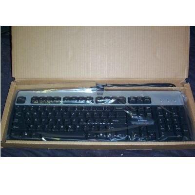 HP BASIC PS/2 KEYBOARD VISTA BLACK/SILVER 434820-001 NEW in box