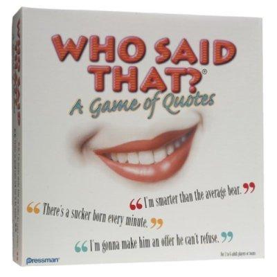 Who Said That? Trivia Game Rare  ©2000 Pressman Toy Corp
